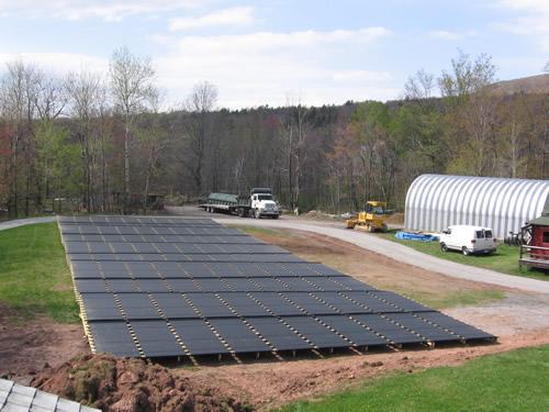 Solar Pool Heater Installation Photos